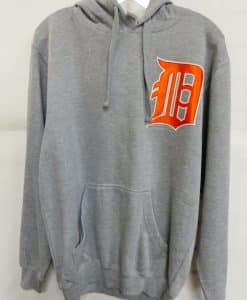 Detroit Tigers Gray Orange Logo Hoodie