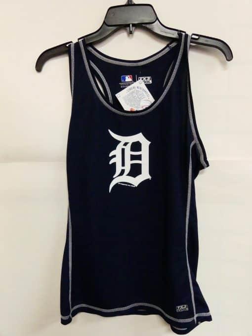 Detroit Tigers Navy Logo Tank