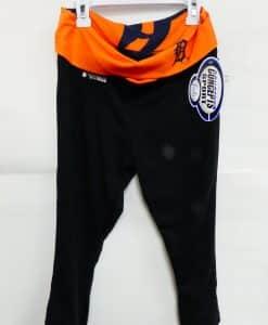 Detroit Tigers Navy Orange Yoga Capri