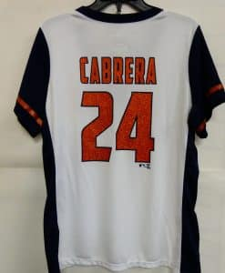 Detroit Tigers Women's Navy Orange Sparkle Jersey Shirt