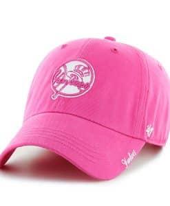 New York Yankees Women's 47 Brand Classic Pink Miata Clean Up Adjustable Hat