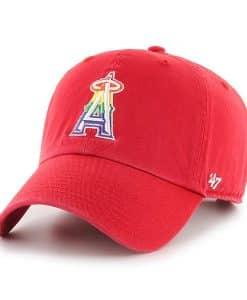 Los Angeles Angels Pride 47 Brand Red Clean Up Adjustable Hat