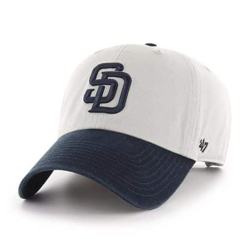 San Diego Padres 47 Brand Gray Navy Clean Up Adjustable Hat