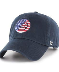 Chicago Cubs Red White & Blue 47 Brand Navy Classic Clean Up Adjustable Hat