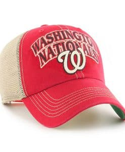 Washington Nationals 47 Brand Tuscaloosa Vintage Red Clean Up Adjustable Hat