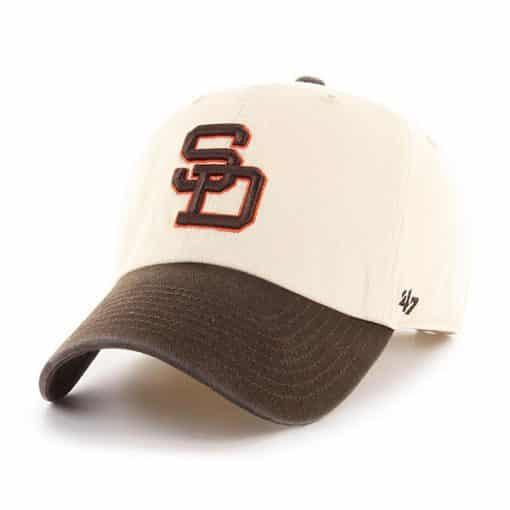San Diego Padres 47 Brand Brown Natural Clean Up Adjustable Hat