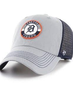 Detroit Tigers 47 Brand Gray Navy Porter Clean Up Mesh Adjustable Hat