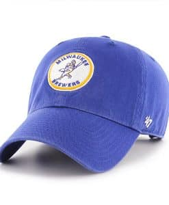 Milwaukee Brewers 47 Brand Cooperstown Blue Clean Up Adjustable Hat