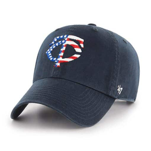 Minnesota Twins Red White & Blue 47 Brand Navy Clean Up Adjustable Hat
