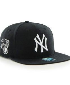 New York Yankees 47 Brand Sure Shot Black White Logo Snapback Hat