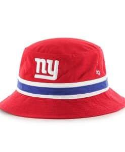 New York Giants 47 Brand Bright Red Striped Bucket Hat