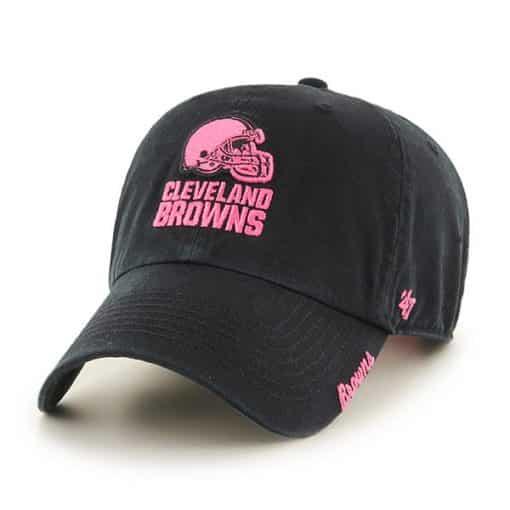 Cleveland Browns Women's 47 Brand Pink Black Clean Up Hat