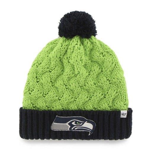 Seattle Seahawks Women's 47 Brand Matterhorn Lime Cuff Knit Hat