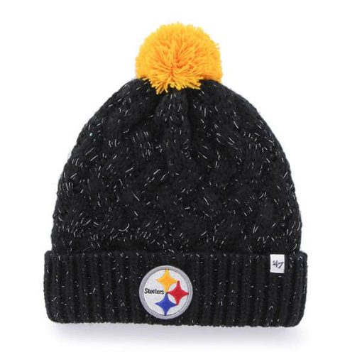 Pittsburgh Steelers 47 Brand Black Fiona Cuff Knit Hat