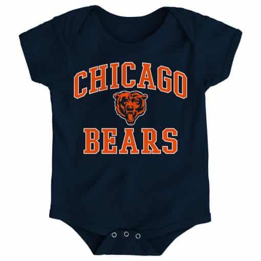 Chicago Bears Baby Navy Onesie Creeper
