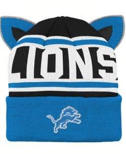 Detroit Lions INFANT Blue Team Ears Cuff Knit Hat
