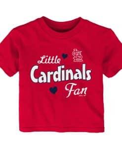 St. Louis Cardinals Baby Girls Sparkle Little Cardinals Fan Red T-Shirt Tee