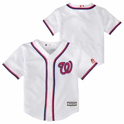 Washington Nationals Baby Majestic White Home Jersey