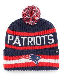 New England Patriots 47 Brand Light Navy Bering Cuff Knit Hat