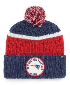 New England Patriots 47 Brand Light Navy Holcomb Cuff Knit Hat
