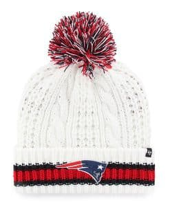 New England Patriots Women's 47 Brand White Sorority Cuff Knit Hat