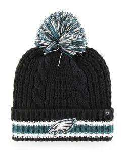 Philadelphia Eagles Women's 47 Brand Black Sorority Cuff Knit Hat