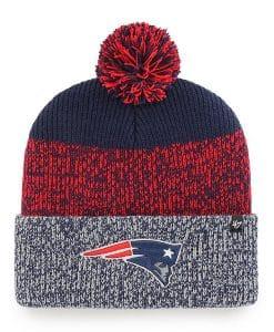 New England Patriots 47 Brand Light Navy Static Cuff Knit Hat