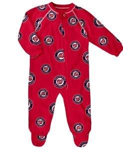MLB Baby Raglan Zip Up Sleeper Coveralls