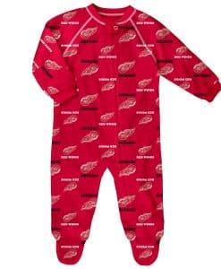 NHL Hockey Baby Raglan Zip Up Sleeper Coveralls
