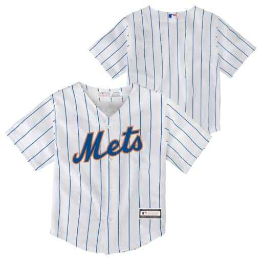 New York Mets Baby 24M White Home Pinstripe Jersey