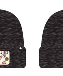 Original Six 47 Brand Black Heathered Cuff Knit Beanie Hat