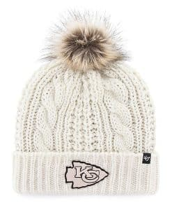 Kansas City Chiefs Women's 47 Brand White Meeko Cuff Knit Hat