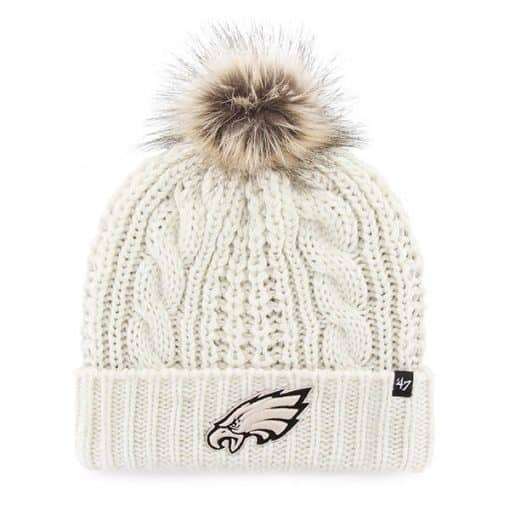 Philadelphia Eagles Women's 47 Brand White Meeko Cuff Knit Hat