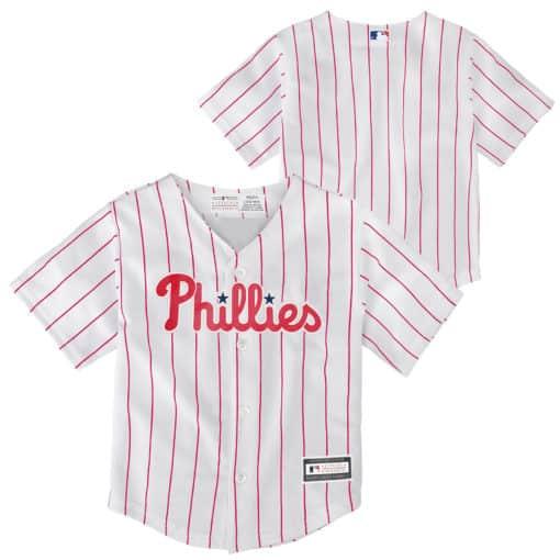 Philadelphia Phillies Baby White Home Pinstriped Jersey