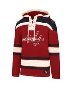Washington Capitals Men's 47 Brand Red Pullover Jersey Hoodie