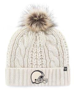 Cleveland Browns Women's 47 Brand White Cream Meeko Cuff Knit Hat