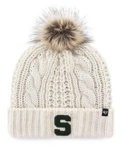 Michigan State Spartans Women's 47 Brand White Cream Meeko Cuff Knit Hat