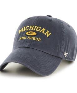 Michigan Wolverines 47 Brand Vintage Navy Ann Arbor Clean Up Adjustable Hat