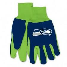 Seattle Seahawks Two Tone Adult Size Gloves - Navy/Green