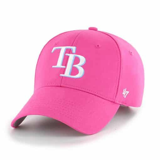 Tampa Bay Rays YOUTH 47 Brand Pink MVP Adjustable Hat