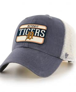 Detroit Tigers 47 Brand Vintage Navy Clean Up Mesh Snapback Hat
