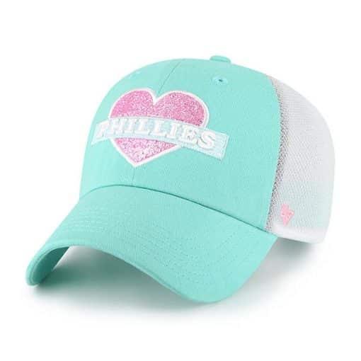 Philadelphia Phillies KIDS 47 Brand Tiffany Blue Mermaid Clean Up Adjustable Hat