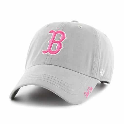 Boston Red Sox Women's 47 Brand Gray Miata Adjustable Hat