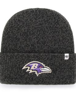 Baltimore Ravens 47 Brand Black Brain Freeze Cuff Knit Hat