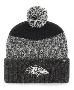 Baltimore Ravens 47 Brand Black Static Cuff Knit Hat
