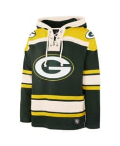 Green Bay Packers Men's 47 Brand Dark Green Pullover Jersey Hoodie