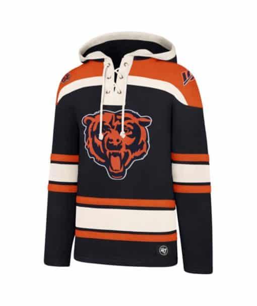 Chicago Bears Men's 47 Brand Navy Jersey Hoodie