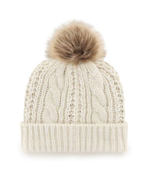 Green Bay Packers Women S 47 Brand White Cream Meeko Cuff Knit Hat Detroit Game Gear