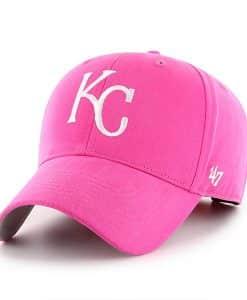 Kansas City Royals YOUTH Girls 47 Brand Pink Adjustable Hat