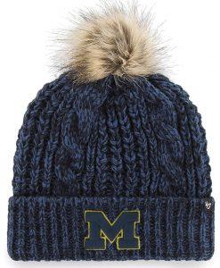 Michigan Wolverines Women's 47 Brand Navy Meeko Cuff Knit Hat